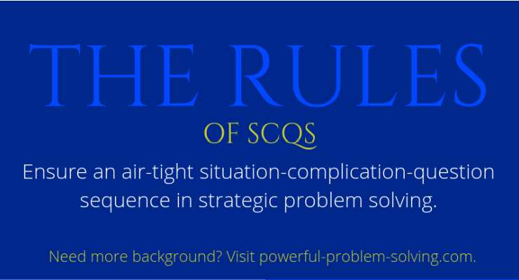 Use the SCQ rules quick reference sheet